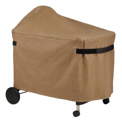 Essential Water-Resistant 40 Inch BBQ Grill Cover for Weber Performer, Latte