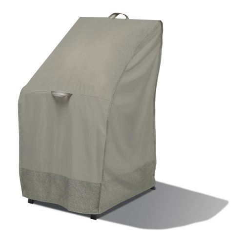 Weekend Water-Resistant Outdoor Stackable Chair Cover with Integrated Duck Dome, 26 x 28 x 49 Inch, Moon Rock