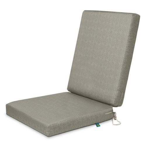 Weekend Water-Resistant Outdoor Dining Chair Cushions, 44 x 20 x 3 Inch, Moon Rock