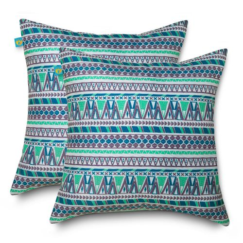 Water-Resistant Accent Pillows, 18 x 18 Inch, 2 Pack, Lilac Festival