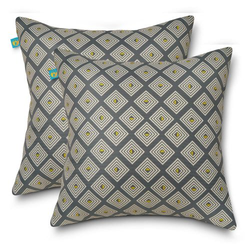 Water-Resistant Accent Pillows, 18 x 18 Inch, 2 Pack