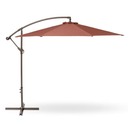 Weekend Patio Cantilever Umbrella, 10 Foot, Cedarwood
