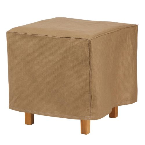 Essential Water-Resistant Square Patio Ottoman/Side Table Cover