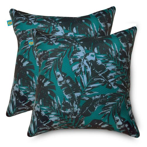 Water-Resistant Accent Pillows, 18 x 18 Inch, 2 Pack, Olympic Forest