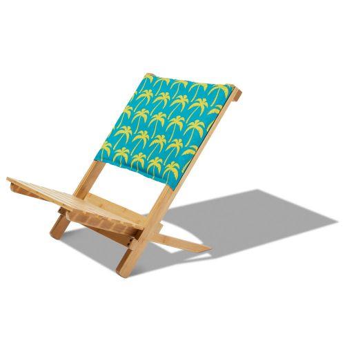 Bamboo Beach Chair, Real Teal Palm
