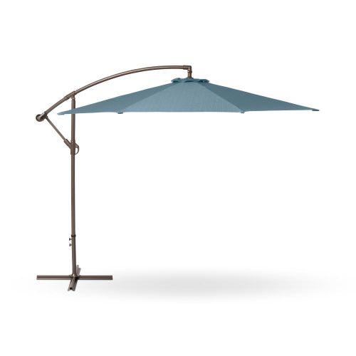 Weekend Patio Cantilever Umbrella, 10 Foot, Blue Shadow