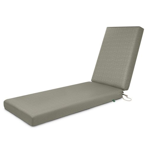 Weekend Water-Resistant Outdoor Chaise Cushion, 72 x 21 x 3 Inch, Moon Rock