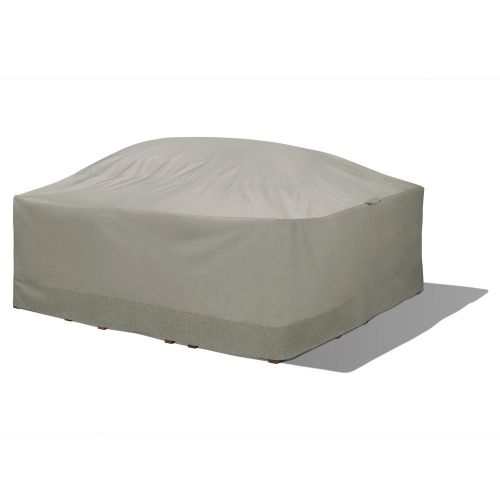 Weekend Water-Resistant Outdoor Square Table & Chair Cover with Integrated Duck Dome, 90 x 90 x 32 Inch, Moon Rock