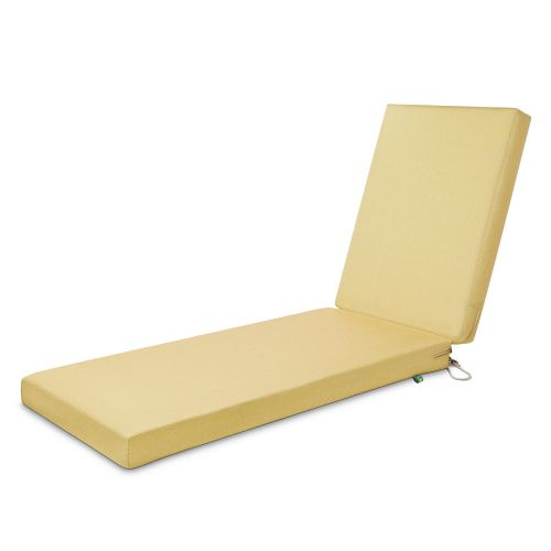 Weekend Water-Resistant Outdoor Chaise Cushion, 80 x 26 x 3 Inch, Straw