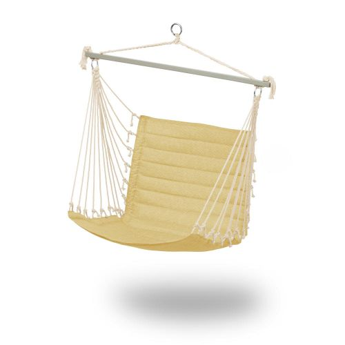 Weekend Quilted Hammock Chair, 27 x 49 x 39.5 Inch, Straw