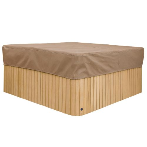 Essential Water-Resistant 94 Inch Square Hot Tub Cover Cap